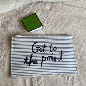 "NWT ""Get to the point"" Kate Spade Pencil Pouch"